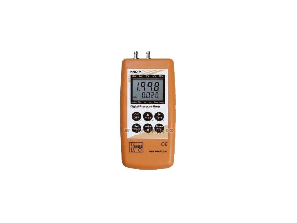 KOBOLD HND-P121 Diferenční ruční tlakoměr se 2 vestavěnými senzory