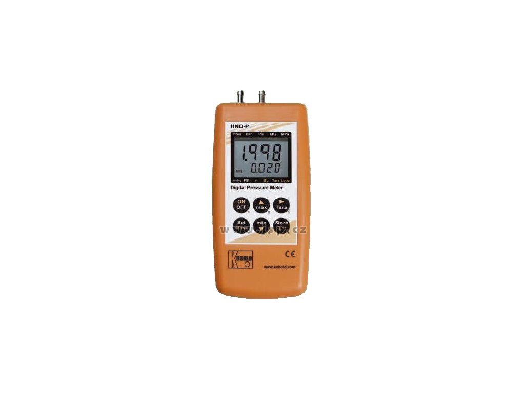 KOBOLD HND-P236 Diferenční ruční tlakoměr se 2 vestavěnými senzory