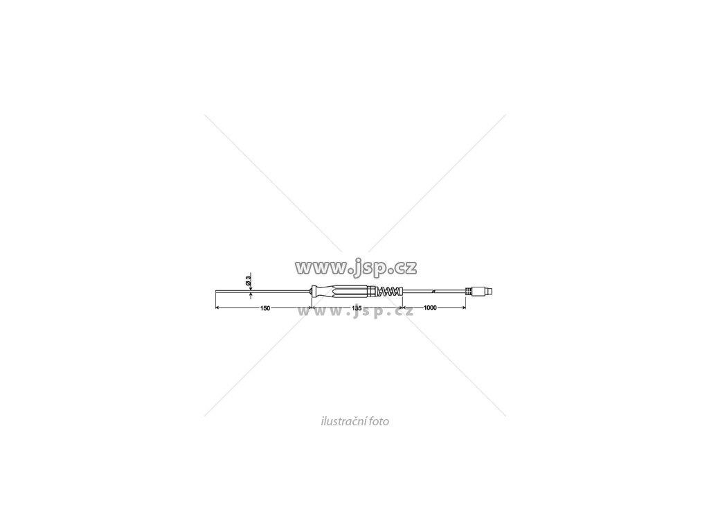 GTF 601- Ponorný ohebný snímač Pt100 pro kapaliny a plyny