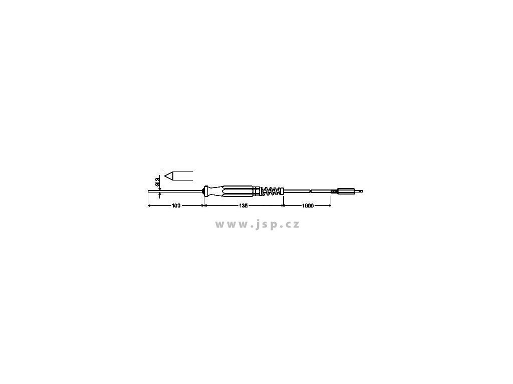 GES 175 Zapichovací sonda s Pt1000/B pro měkká plastická média