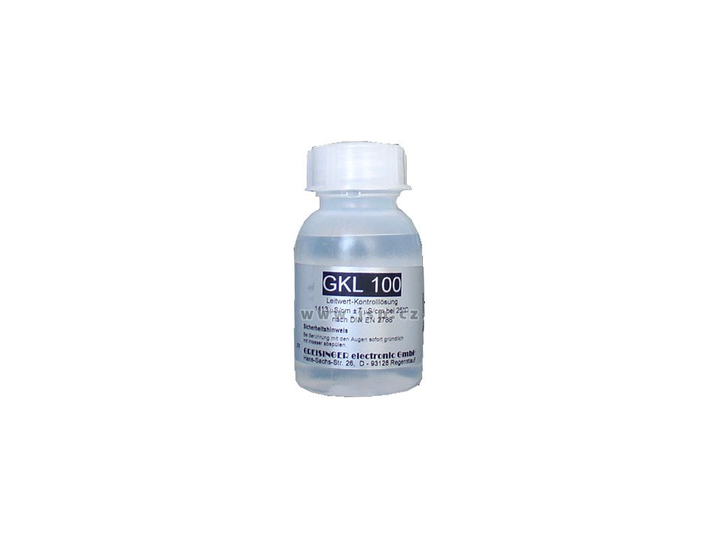 Greisinger GKL 100 Kontrolní roztok měrné vodivosti (balení 5 ks)  (Balení 5 ks)