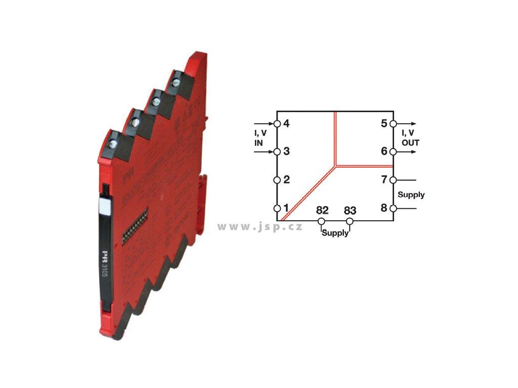 PR3105 Oddělovač s převodem signálu
