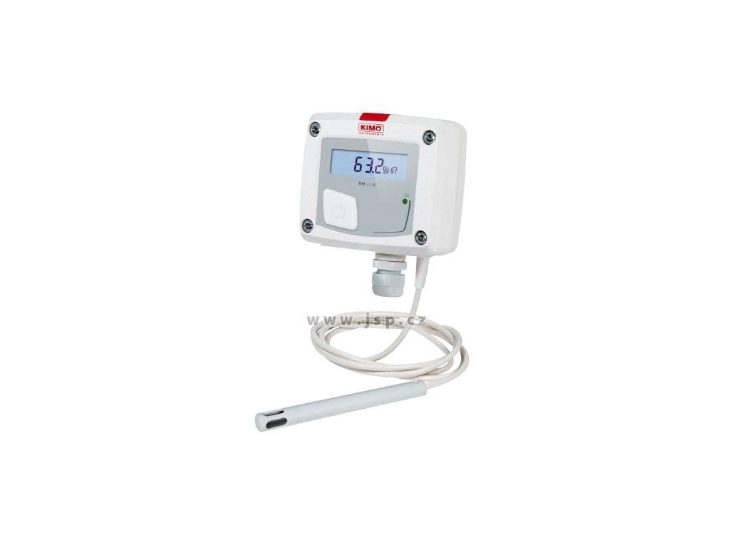 Převodník vlhkosti a teploty s displejem TH110-AOD - kabelové provedení, 0-10 V