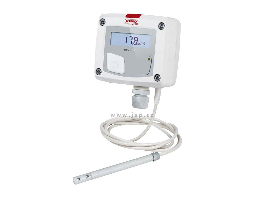 CTV110-VOD150 – převodník proudění vzduchu a teploty se sondou