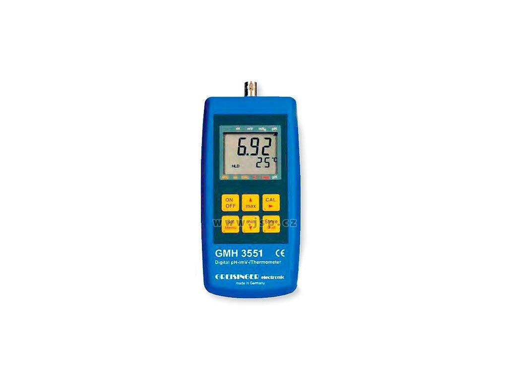 GMH 3551 měřicí přístroj pro pH / redox (ORP) / teplotu s dataloggerem
