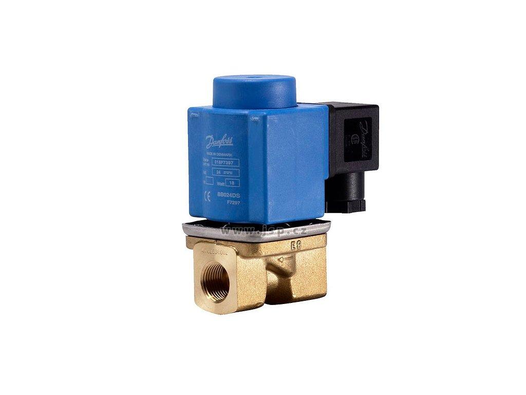 2/2cestný el.mag. ventil s pomocným zdvihem EV251B, DN10, NC, 24VAC