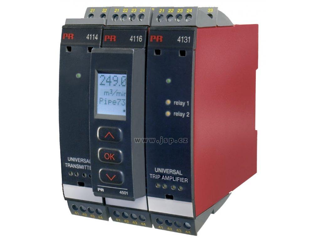 PREASY 4116 Univerzální programovatelný převodník s proudovým, napěťovým a reléovým výstupem