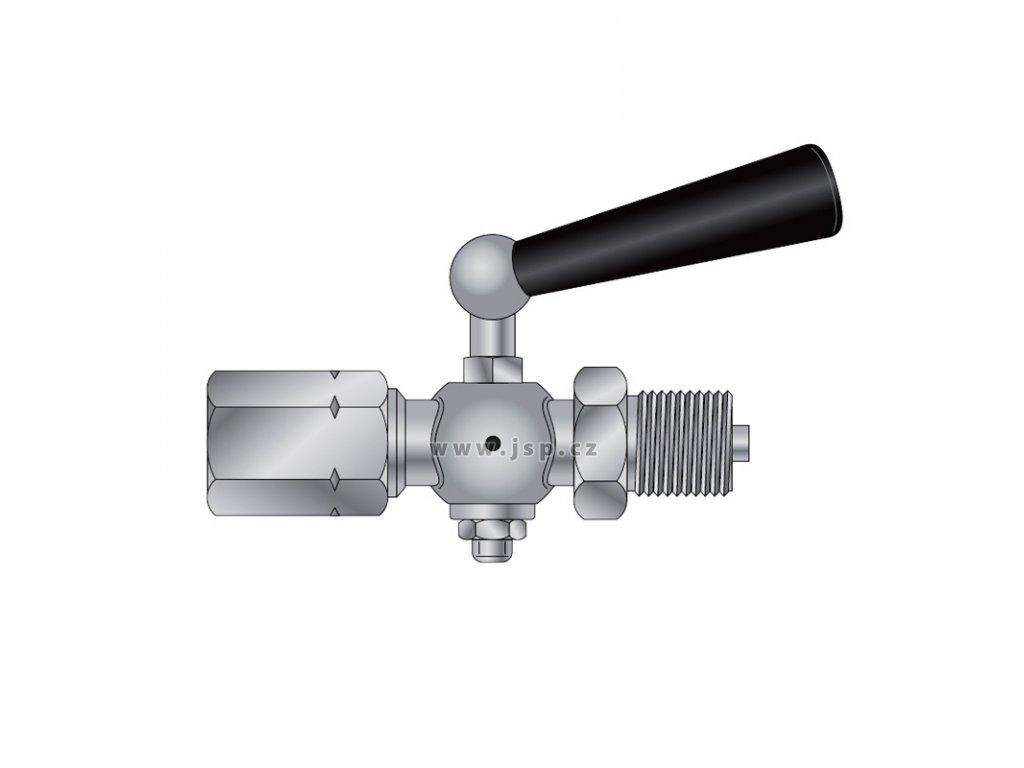 Kohout tlakoměrový uzavírací typ 1 210 201