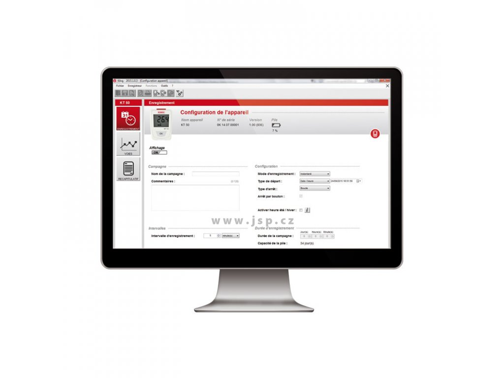 Kimo KIC3-N Software KILOG pro konfiguraci a správu dat dataloggerů řady KISTOCK vč. USB kabelu
