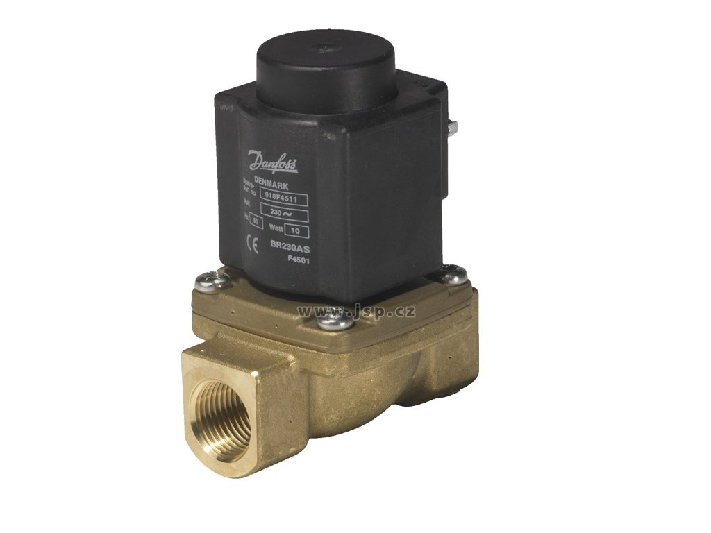 2/2cestný el.mag. parní ventil ovládaný servopohonem EV225B, DN 10, NC, 230 VAC