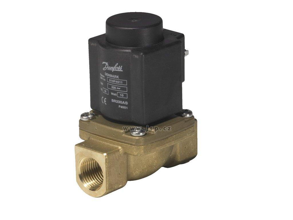 2/2cestný el.mag. parní ventil ovládaný servopohonem EV225B, DN 25, NC, 230 VAC