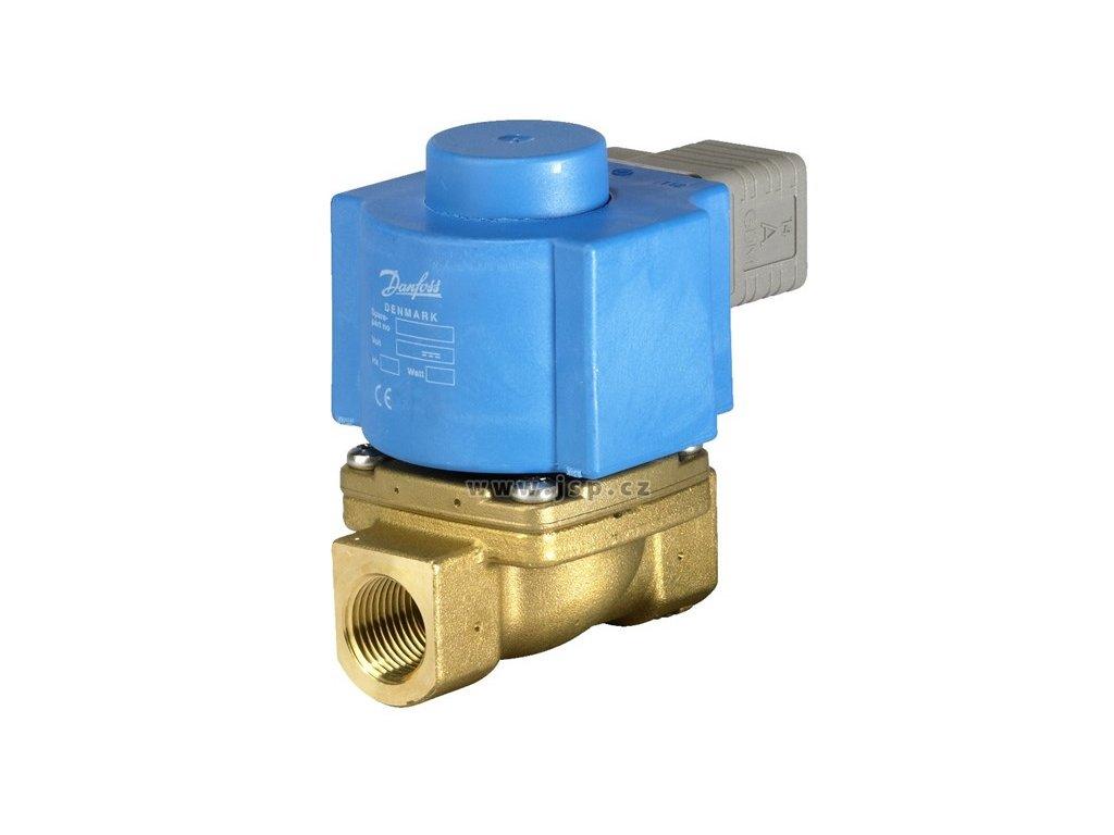 2/2cestný el.mag. parní ventil ovládaný servopohonem EV225B, DN 20, NC, 24 VDC