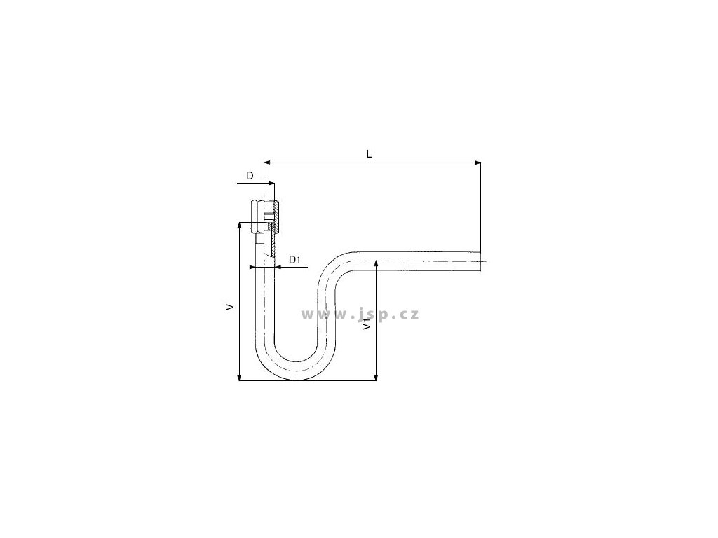 Smyčka kondenzační zahnutá přivařovací