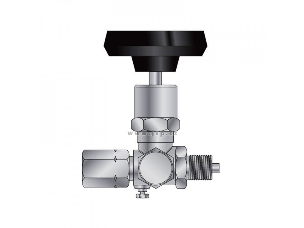 Ventil tlakoměrový zkušební typ 1 110 416