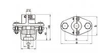 Upevňovací přesuvná příruba pro tyčové snímače 15 mm
