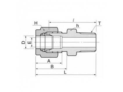 """Šroubení DK-LOK s vnějším závitem 1/2"""" NPT pro trubky 1/2"""" (12,7 mm)"""