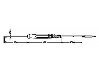GOF 175 Povrchová sonda s Pt1000/B pro pevné povrchy