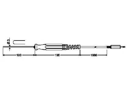 GTF 175 Ponorná sonda s Pt1000/B pro kapaliny a plyny