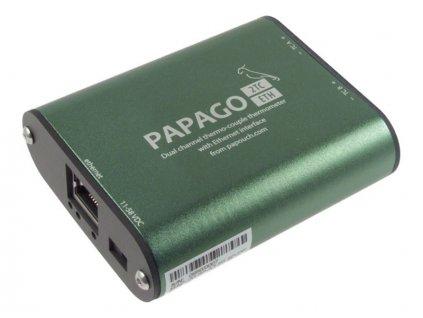 """Papago 2TC ETH – Ethernetový převodník pro 2 TC snímače typu """"K"""""""