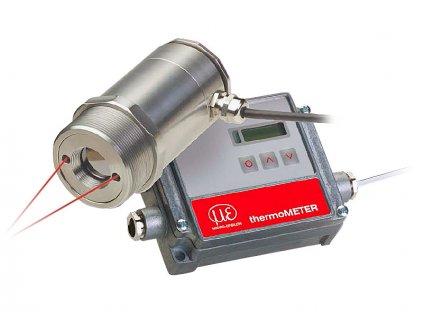Bezkontaktní IR snímač teploty řady CT Laser s oddělenou elektronikou a laserovým zaměřením