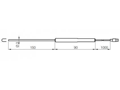 Kobold HND-TF06 Ponorná sonda Pt100 pro měření teploty tekutin a plynů