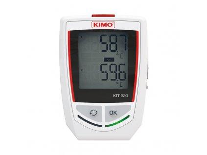 Kimo KTT 220 Datalogger řady KISTOCK pro záznam teploty se vstupem pro termoelektrické snímače