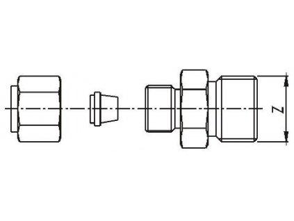 Upevňovací přesuvné šroubení pro plášťové snímače teploty