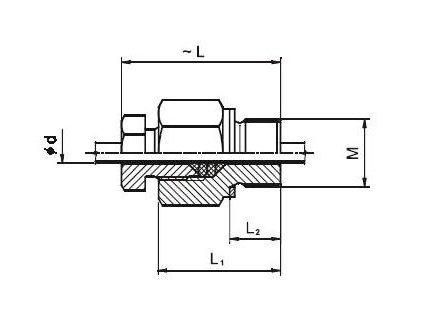 Upevňovací přesuvné šroubení pro snímače teploty