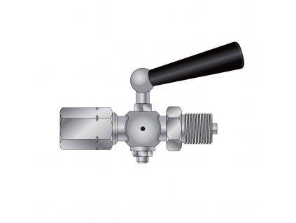 Kohout tlakoměrový uzavírací typ 1 210 202