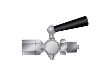 Kohout tlakoměrový zkušební typ 1 210 204