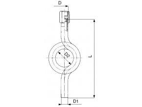 Smyčka kondenzační stočená přivařovací