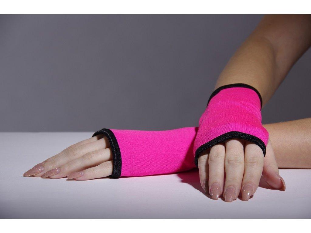 Jumping růžové rukavičky s lemem