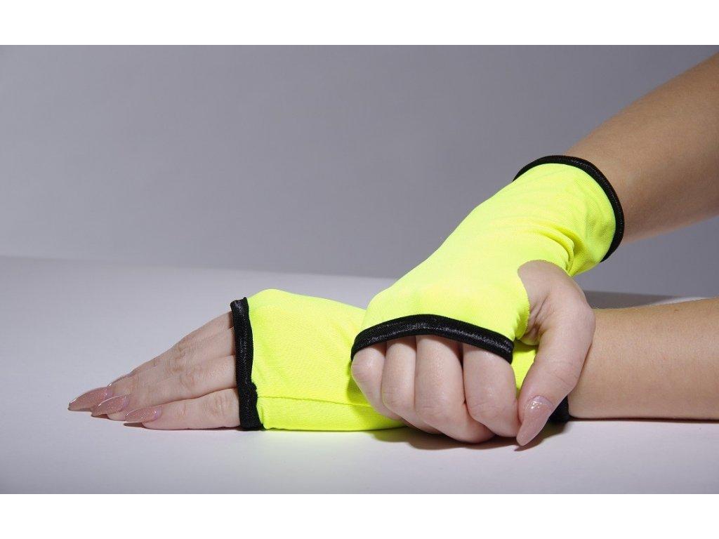 Jumping žluté rukavičky s lemem