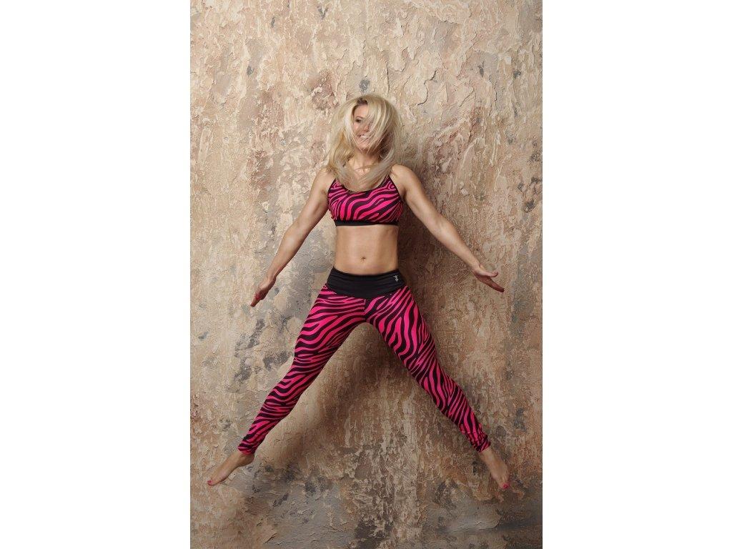 Jumping Jumping podprsenka v barevném vzoru zebra
