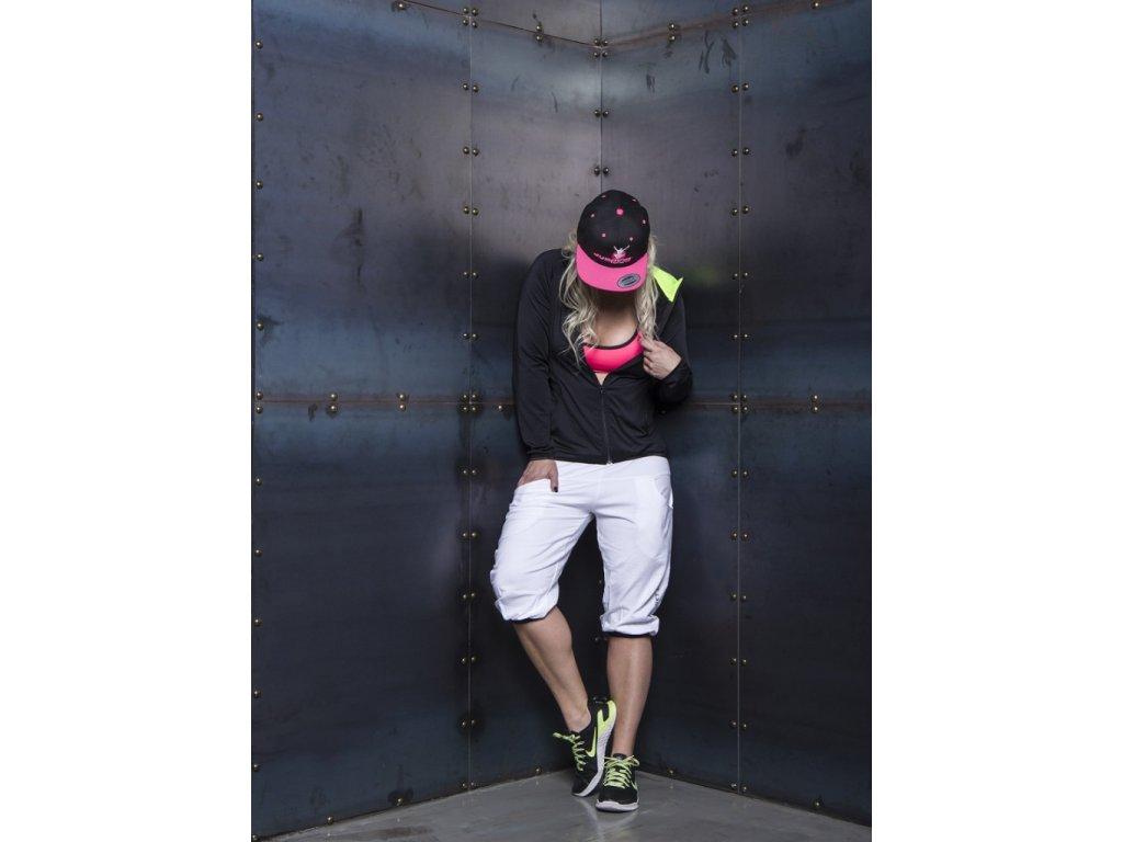Jumping SnapBack kšiltovka černá – růžový kšilt