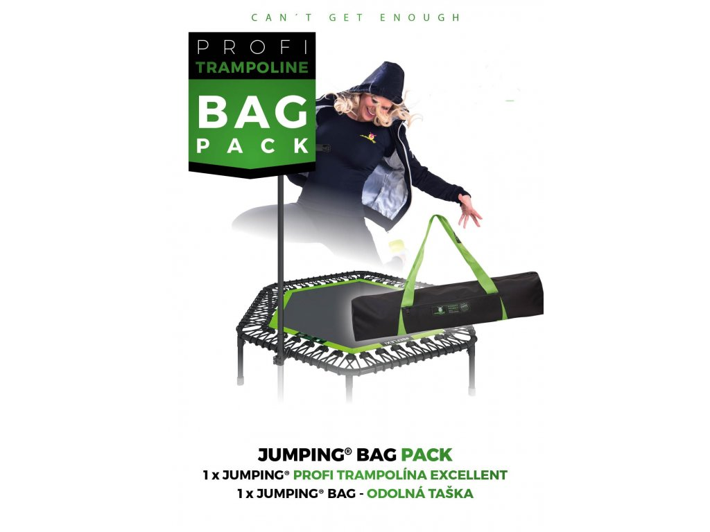"""Jumping® Trampolína Excellent """"Bag Pack"""" Green"""