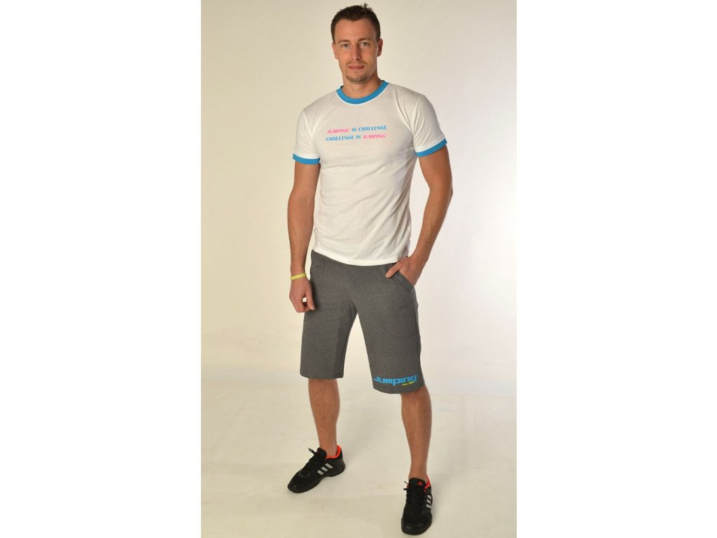 Jumping triko s krátkým rukávem tyrkys/bílé