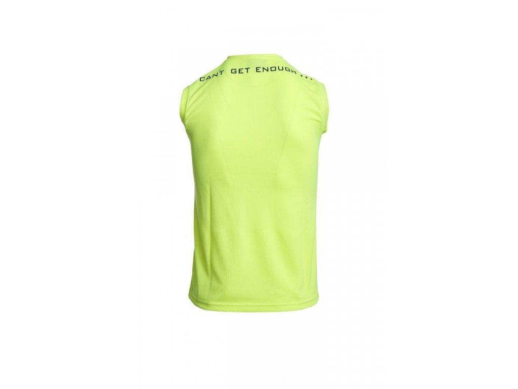 Jumping Pánské funkční triko bez rukávů žluté