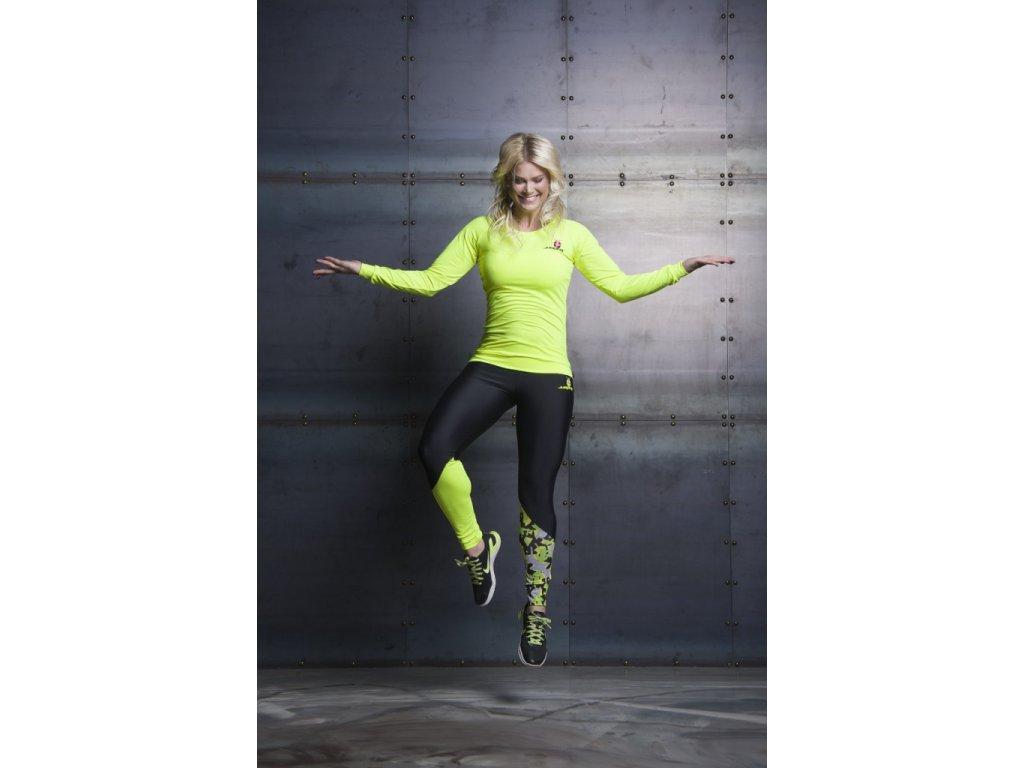 Jumping Žluté triko s dlouhým rukávem (Velikost S)