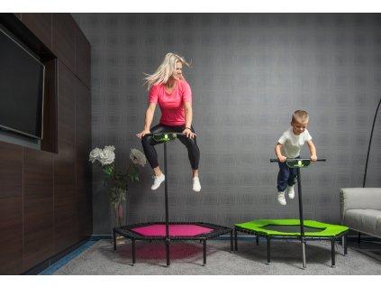 """Balíček """"Like mother, like child"""" s trampolínou FLEXI Green a pro děti (Nosnost s dětskou trampolínou nad 25kg)"""
