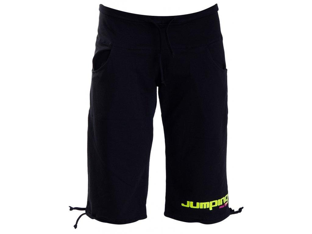 Schwarze Jumping ¾-Trainingshose für Damen