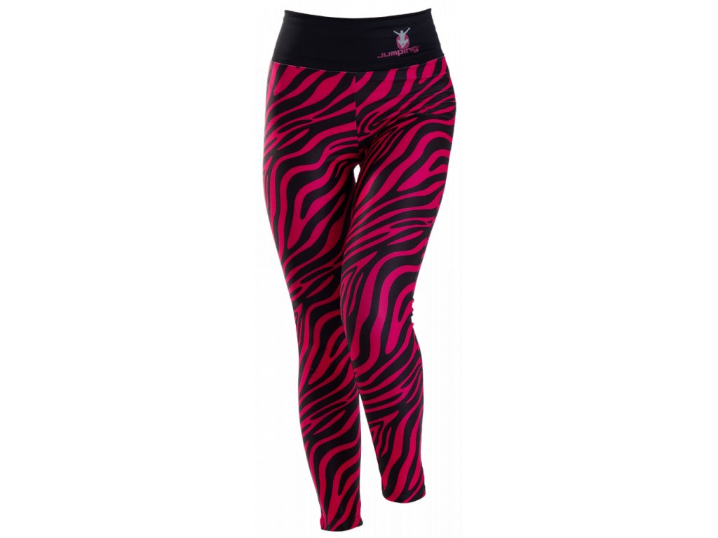 Jumping Leggings with Colored Zebra Pattern