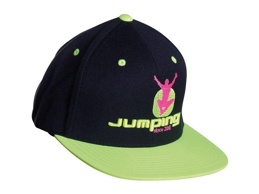 Jumping SnapBack Schildkappe Schwarz – gelbes Schild