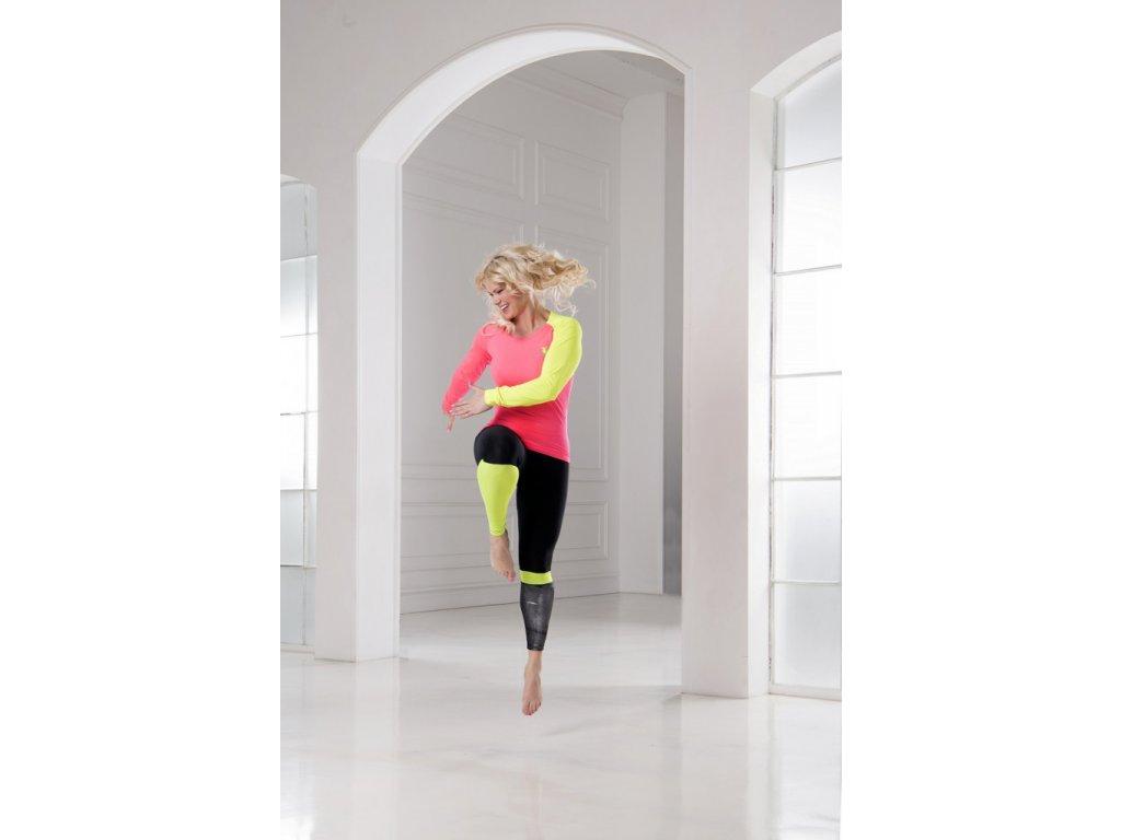 Rosa Jumping Top mit langen gelben Ärmeln LIMA