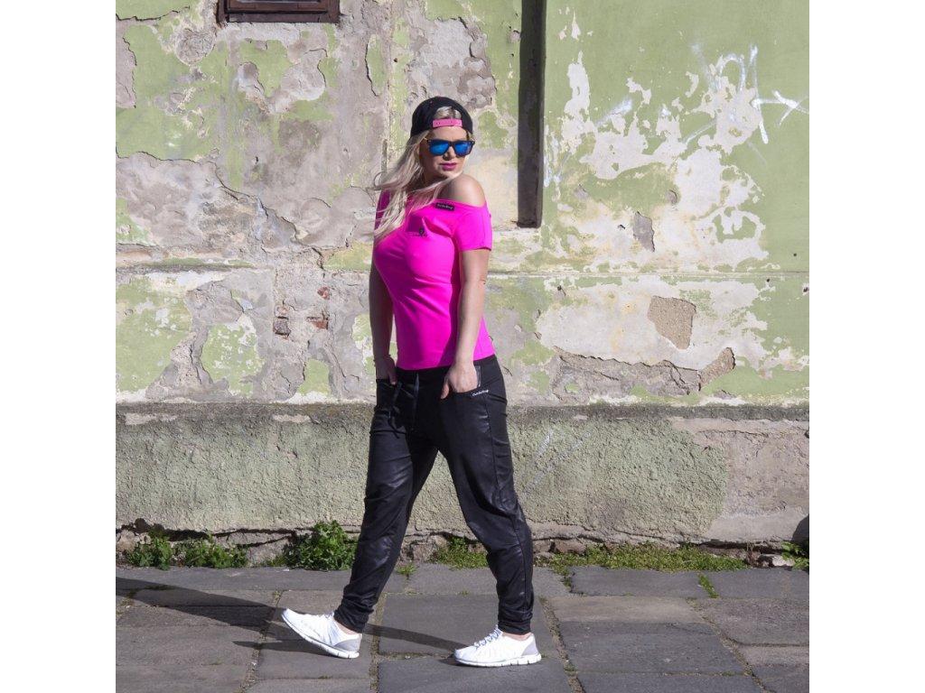 Rosa schulterfreies T-Shirt für Damen RIO