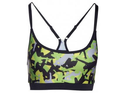 Black Sports Bra – Jumping Figures in the Front