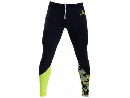 Long Black Leggings, Yellow/Jumping Figures Insert