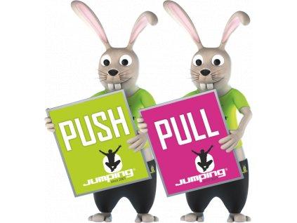 Self-adhesive sticker PUSH / PULL on your door