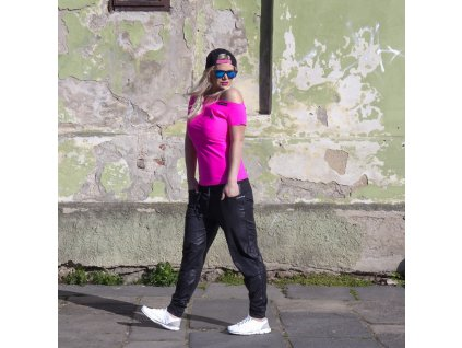 Women's Pink Off-Shoulder T-shirt RIO