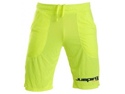 Luminous yellow knee-length shorts